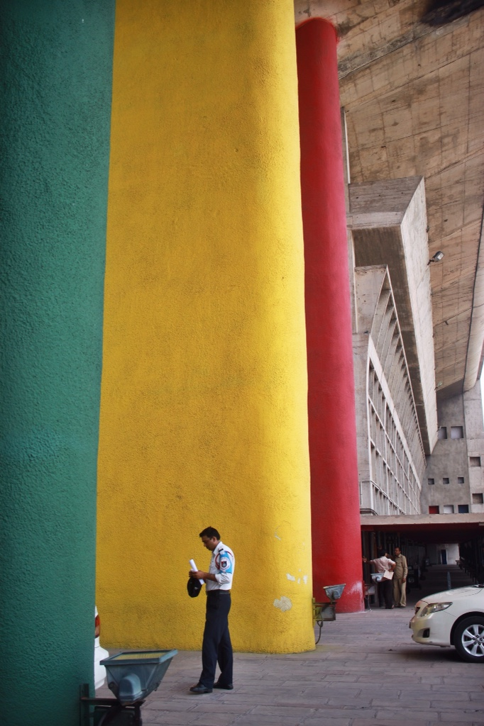 Le Corbusier's beautiful High Court building in Chandigarh, India.