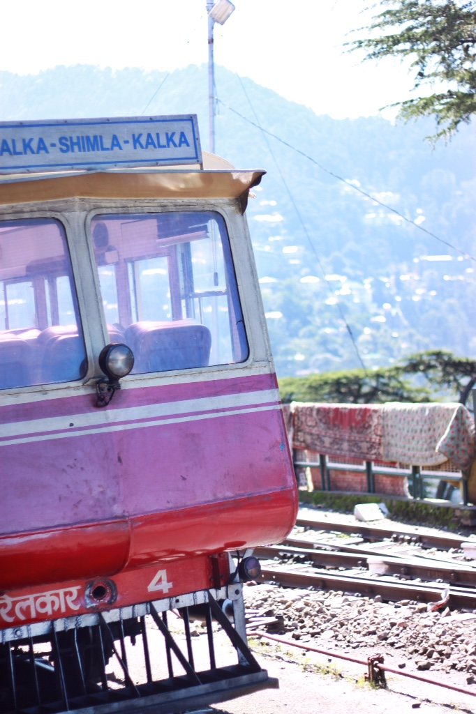 """Kalka - Shimla - Kalka"" view of our toy train from the back."