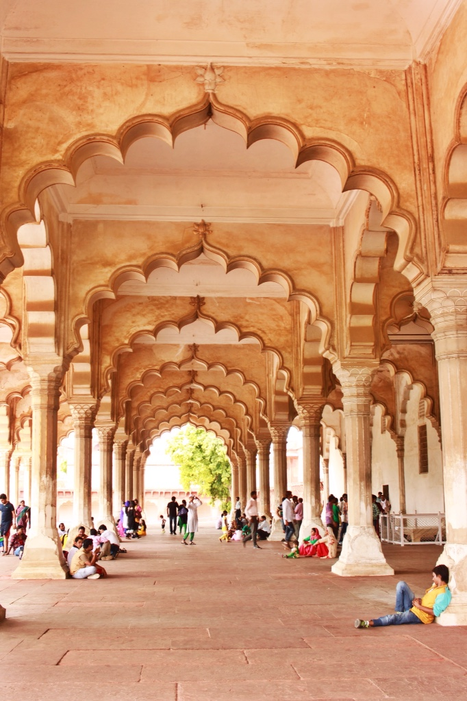 cusp arches at Agra Fort in Agra, India