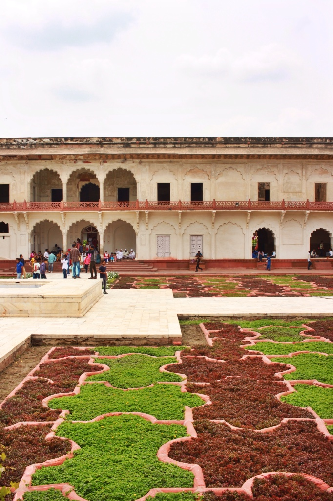 the gardens at Agra Fort in Agra, India
