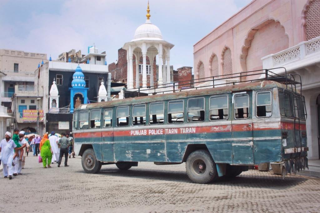Punjab Police bus in Amritsar, India