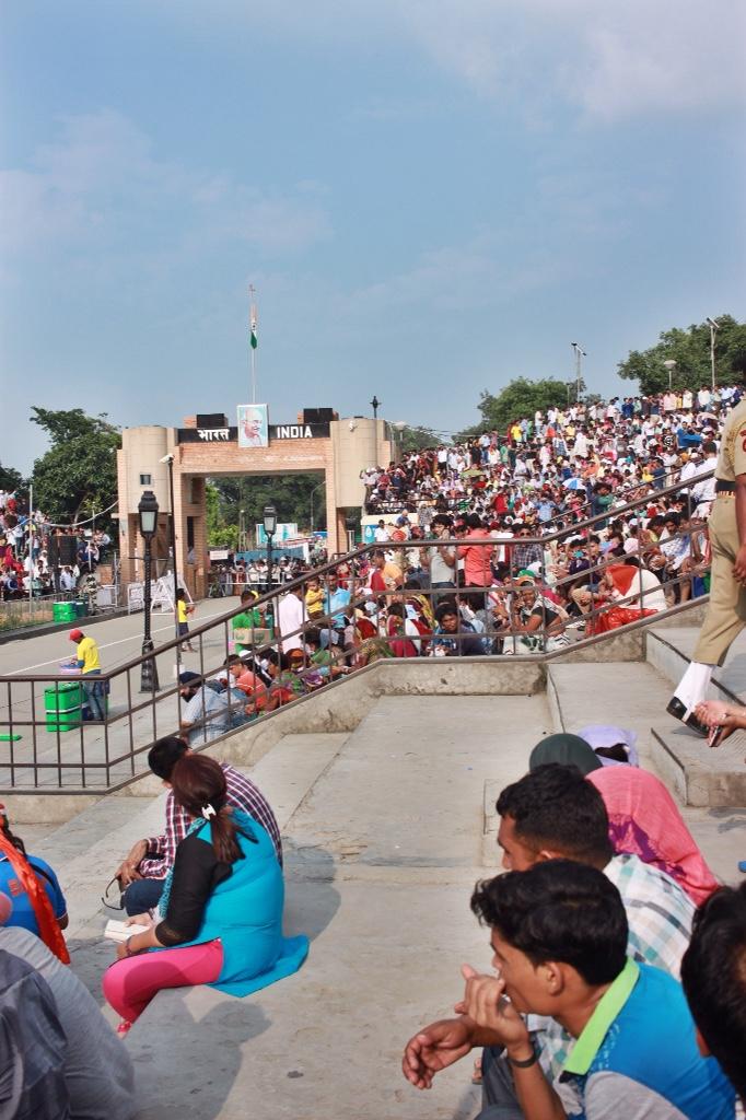 India/Pakistan border closing ceremony